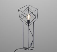 Table lamp In cube by ImperiumLight, brass/black