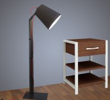 Floor lamp Helsinki by  ImperiumLight, black/red