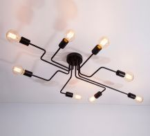 Designer  Ceiling lamp  Hydra by ImperiumLight, black