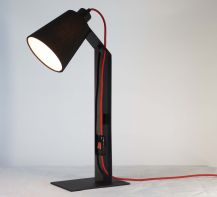 Table lamp Helsinki by ImperiumLight, black/red
