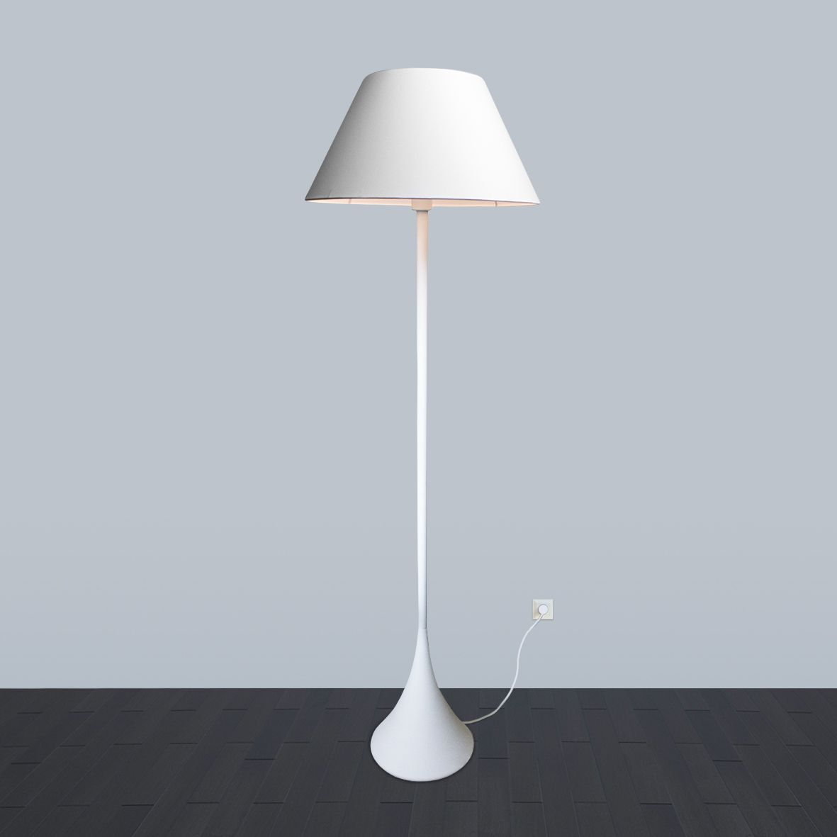 Floor lamp Black and White by  ImperiumLight, white