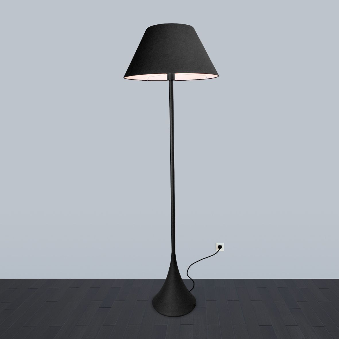 Floor lamp Black and White by  ImperiumLight, black